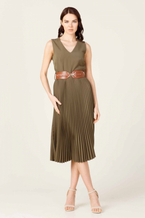 Ekol Women's V Neck Dress - 06204