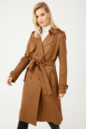 Ekol Women's Trench Coat - 06109