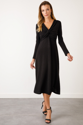 Ekol Women's V Neck Dress