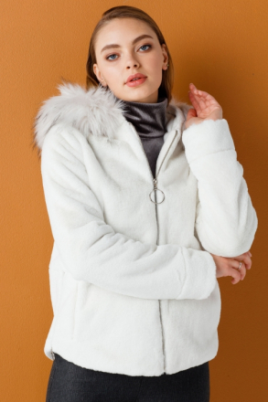 Ekol Women's Hooded Coat - 08341