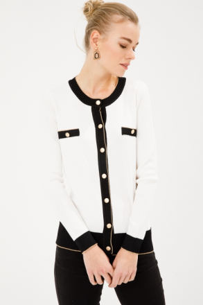 On Women's Zero Collar Buttoned Knitwear Cardigan