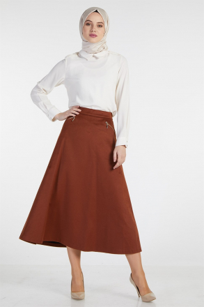 Armine - Women Skirt - Red