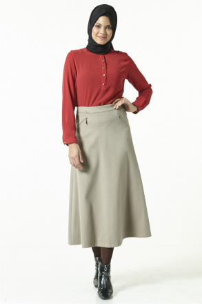 Armine - Women Skirt - Beige