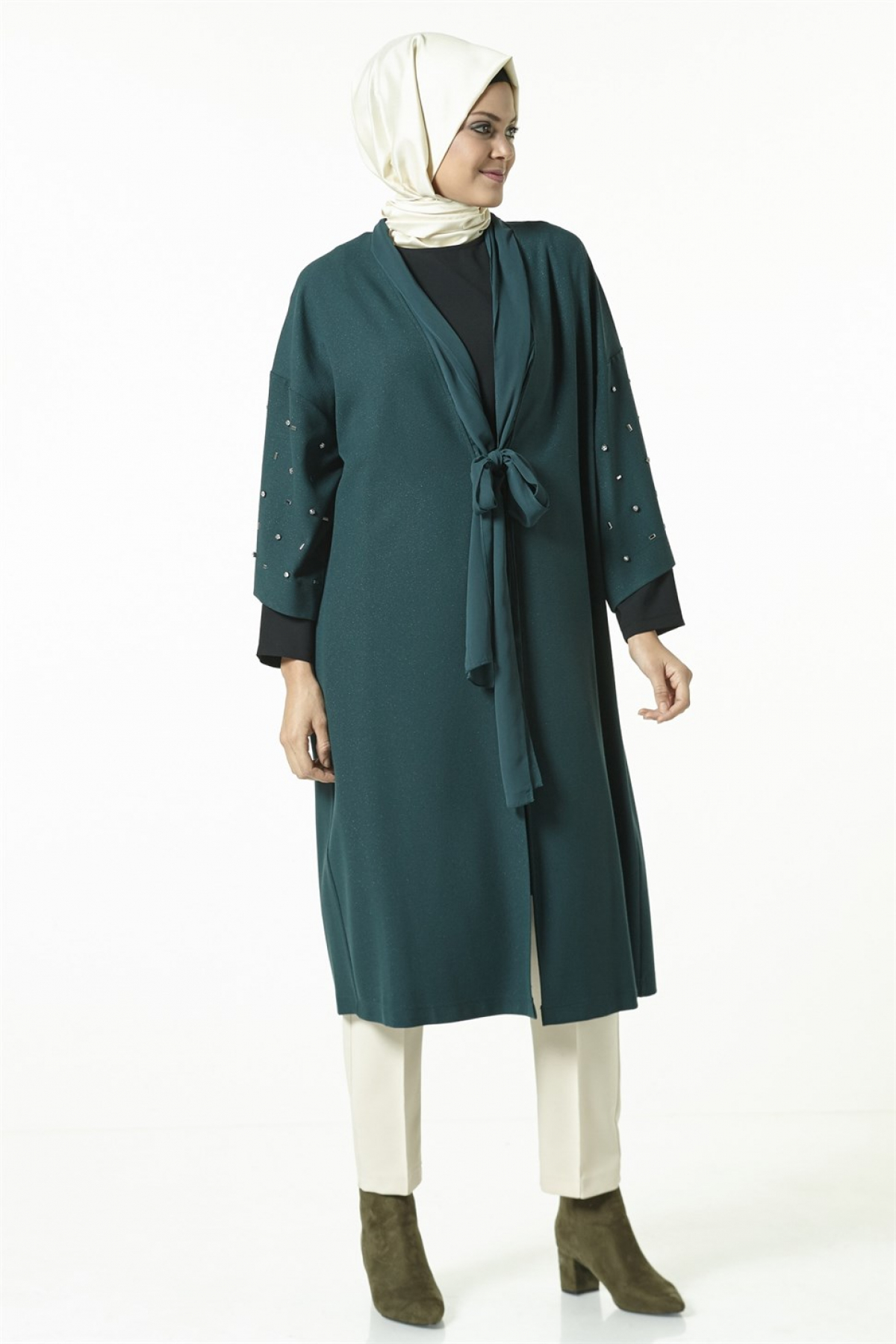 Armine Women Cardigan -  Green