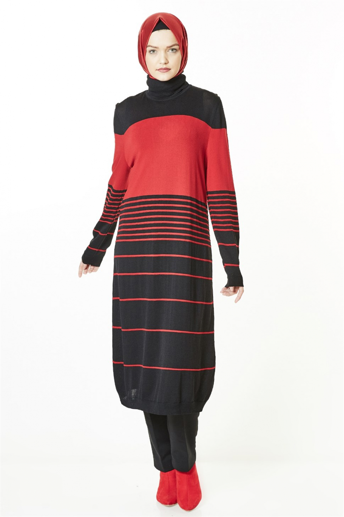 Armine Women Tunic - 8kd1154  Red