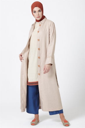 Armine Button Detailed Women's Topcoat - 9Y8736