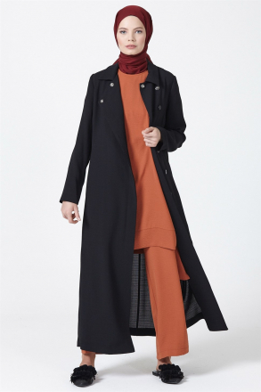 Armine Button Detailed Women's Topcoat - 9Y8739