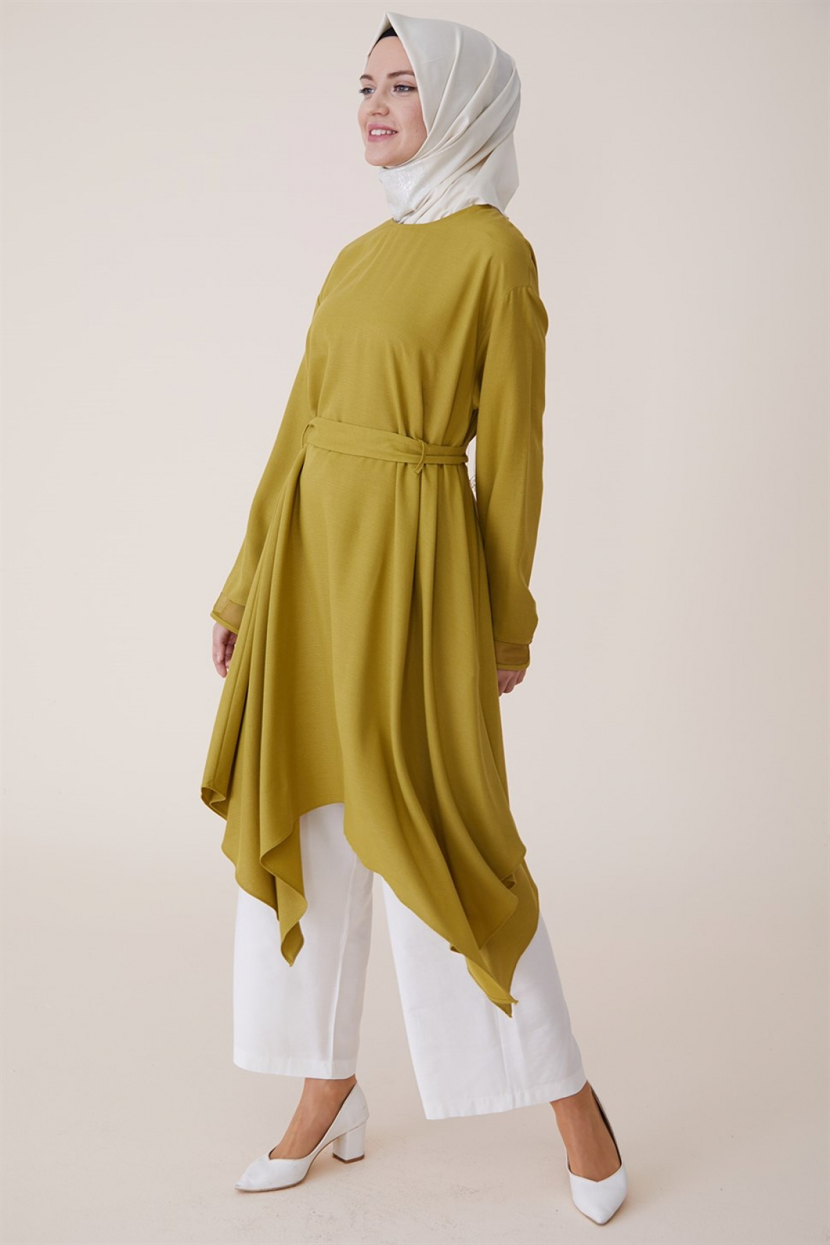 Armine Women Tunic With a Necklace -  Green
