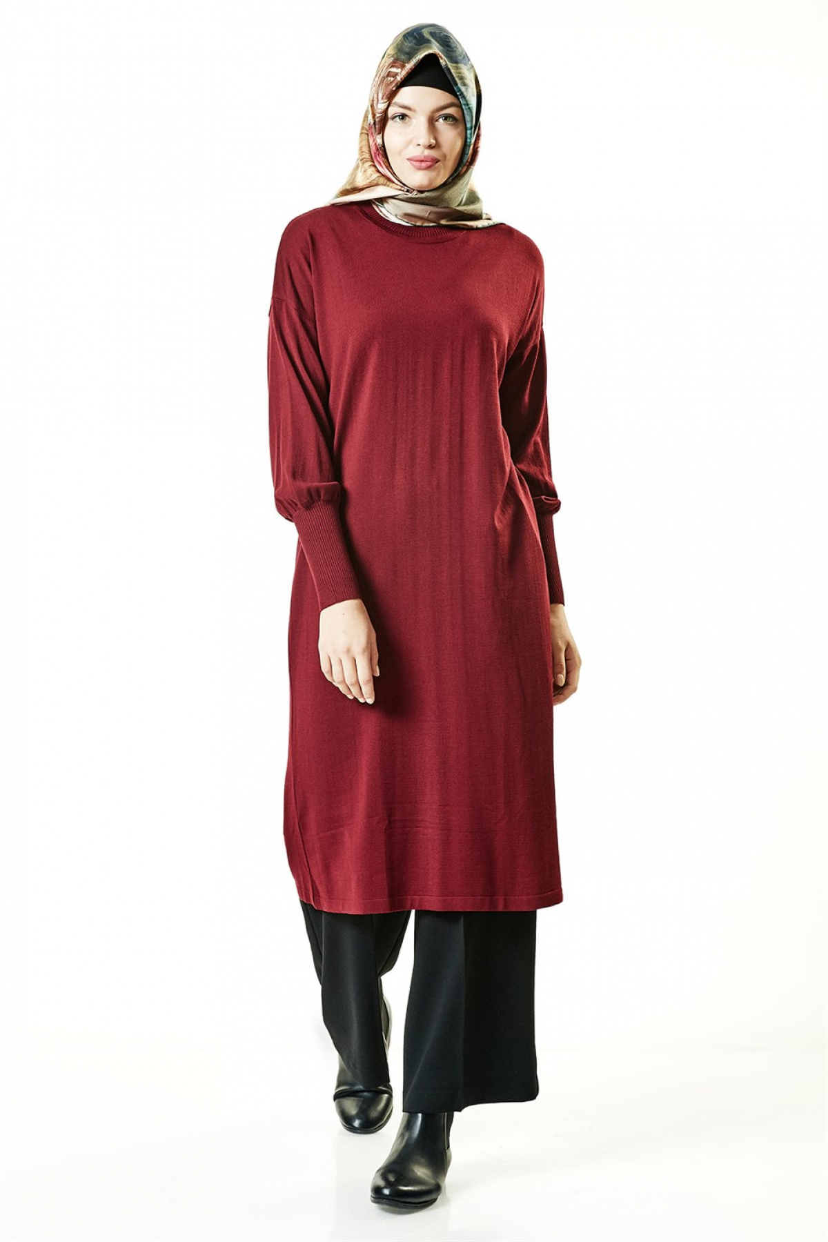 Armine Women's Tunic -  Claret Red