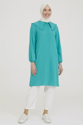 Armine Wide Collar Frilly Tunic