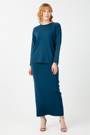 TiğTriko Women's Blouse+ Skirt 2-Piece Set